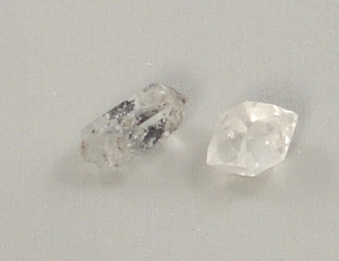 Quartz double point crystals