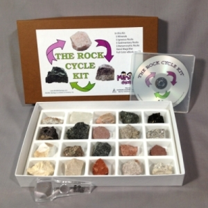 The Rock Cycle Kit with eBook - Rock and Mineral Collection