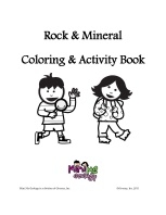 rock mineral coloring and activity book