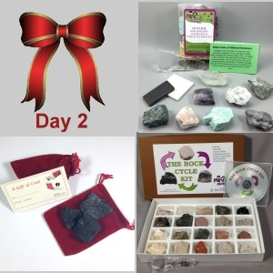 2nd Day: Rock Cycle Kit, Mineral Observation & Testing Kit, and Santa's Coal