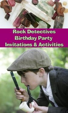 Rock Detectives Birthday Party Invitations & Activities eBook