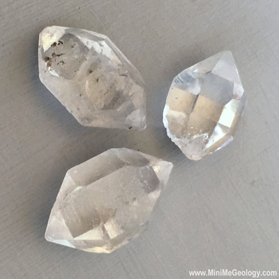 Herkimer Diamond - Quartz Crystal Mineral with Double Point - Mini Me Geology