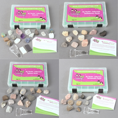 Full Set Deluxe Mineral & Rock Kits - Mini Me Geology