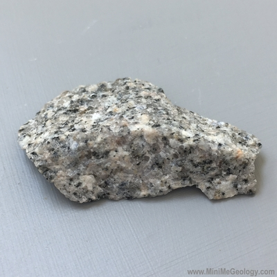 Gray to White Granite Igneous Rock - Mini Me Geology