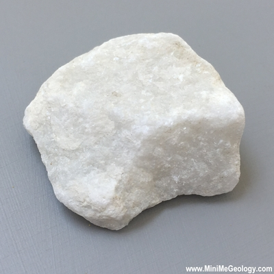White Marble Metamorphic Rock - Mini Me Geology