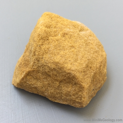 Yellow Brown Sandstone Sedimentary Rock - Mini Me Geology
