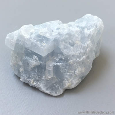 Blue Calcite Mineral - Mini Me Geology