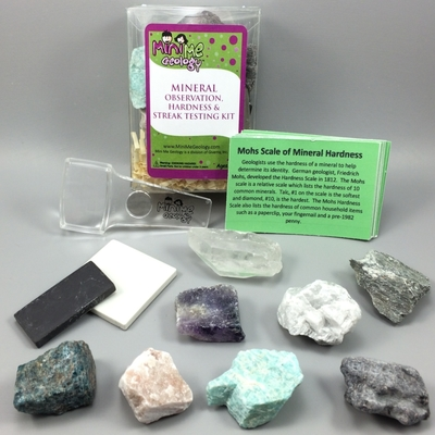 Mineral Observation, Hardness & Streak Testing Kit