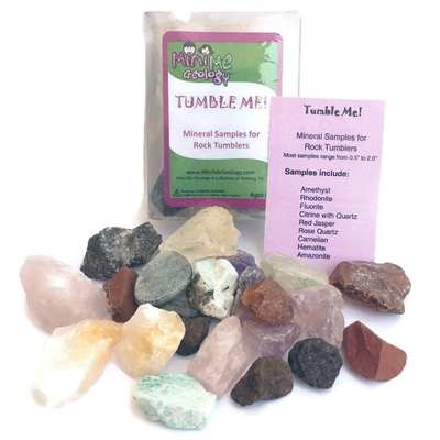 Tumble Me Mineral Samples for Rock Tumbers - Mini Me Geology