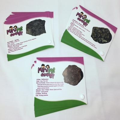 Igneous, Metamorphic and Sedimentary Rock Sample Identification Card Set - Mini Me Geology