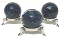 Sodalite Mineral Sphere with Nickel Stand