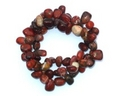 Brecciated Jasper Three Strand Chip Bracelet