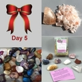 5th Day: Chakra Crystals, Halite Cleansing Kit, Tumbled Rock