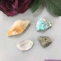 Image Money and Abundance Metaphysical Crystal Set - Natural Healing Crystals