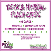 Image Rock & Mineral Flash Cards