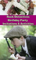 Image Rock Detectives Birthday Party Invitations & Activities eBook