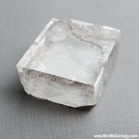 Image Natural Clear Calcite - Iceland Spar