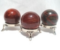 Red Snakeskin Jasper Sphere with Stand
