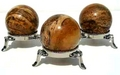 Picture Jasper Mineral Sphere with Nickel Stand